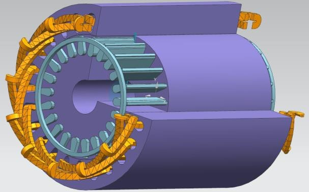 Design and Analysis of New Asynchronous Motor Type for Electric Vehicle