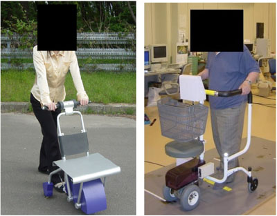 Electric Cart Matching the User Gait