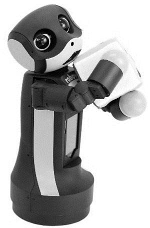 "A Desktop-Sized Communication Robot: ""robovie-mR2"""