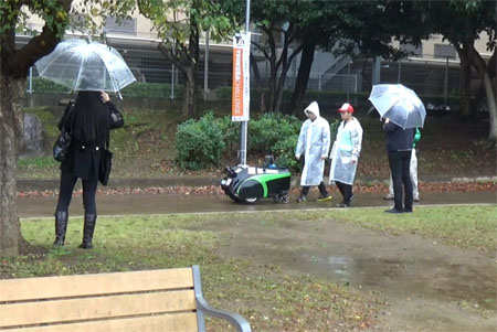 Development of Autonomous Mobile Robot that Can Navigate in Rainy Situations