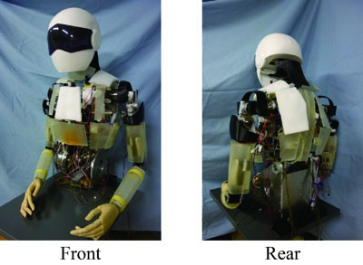 Upper Body of Dummy Humanoid Robot with Exterior Deformation Mechanism for Evaluation of Assistive Products and Technologies