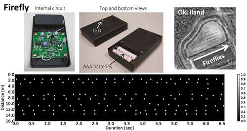 Swarm of Sound-to-Light Conversion Devices to Monitor Acoustic Communication Among Small Nocturnal Animals