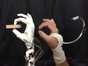 Wearable Hand Pose Estimation for Remote Control of a Robot on the Moon