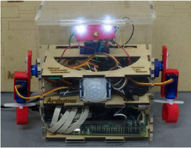Development of Communication Robot for STEM Education by Using Digital Fabrication