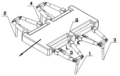 Gait Planning and Simulation Analysis of a New Amphibious Quadruped Robots