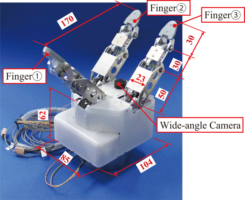 Three-Fingered Robot Hand with Gripping Force Generating Mechanism Using Small Gas Springs – Mechanical Design and Basic Experiments –