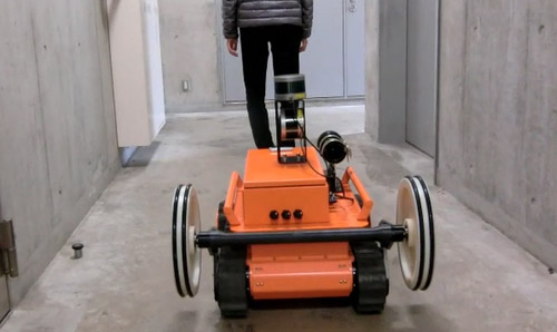 Robust Human Tracking of a Crawler Robot
