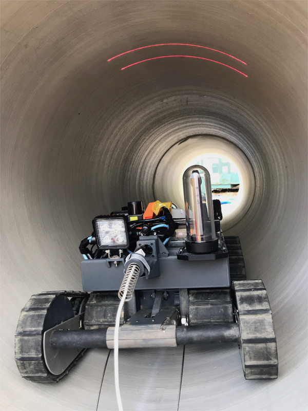 Verification and Evaluation of Robotic Inspection of the Inside of Culvert Pipes