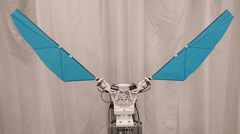 Three-DoF Flapping-Wing Robot with Variable-Amplitude Link Mechanism