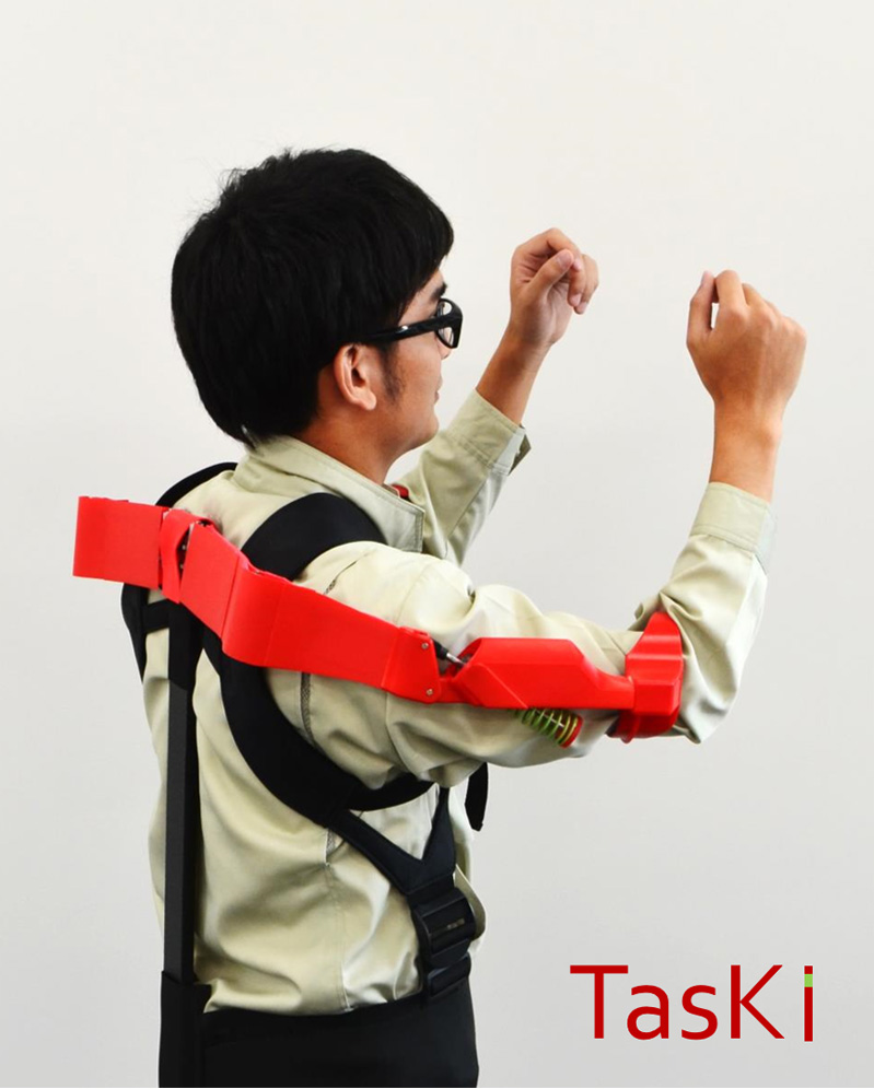 TasKi: Overhead Work Assistance Device with Passive Gravity Compensation Mechanism