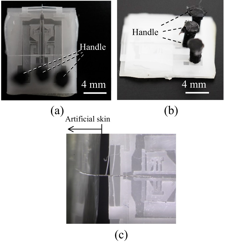 Development of Microneedle Puncture Device that Prevents Buckling of Needle by Delivery Operation