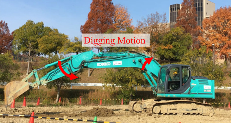 Application of a MIMO-PID Controller for a Hydraulic Excavator Considering the Velocity of CoM