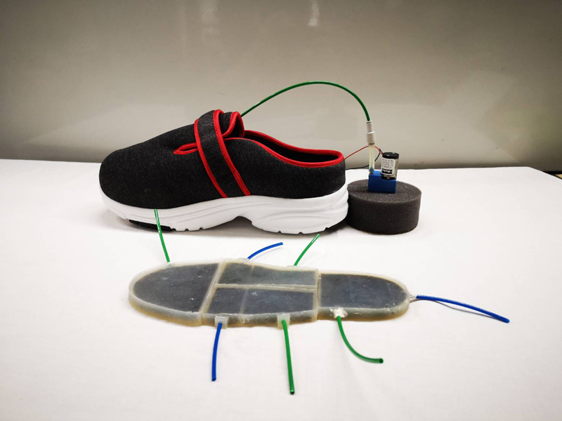 Study on Human Behavior Classification by Using High-Performance Shoes Equipped with Pneumatic Actuators