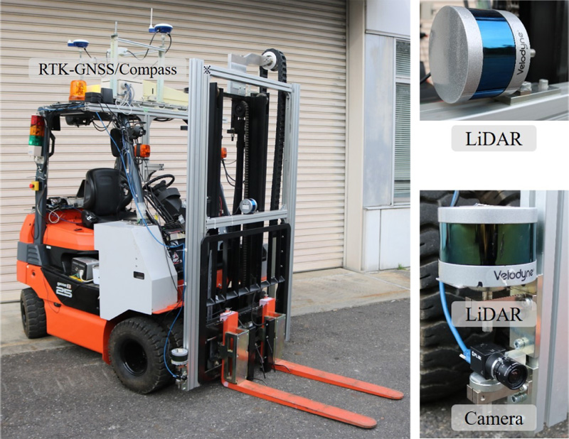 Pallet Handling System with an Autonomous Forklift for Outdoor Fields