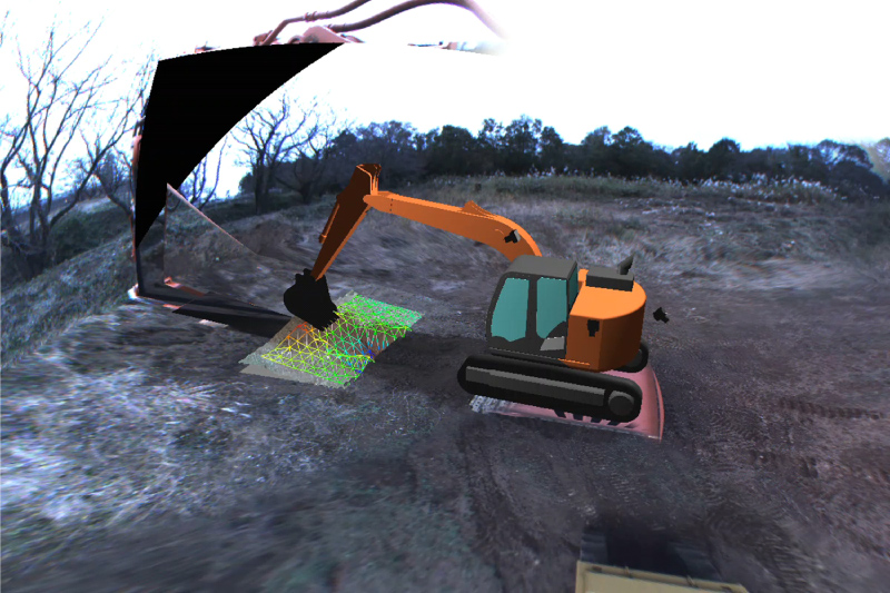 Arbitrary Viewpoint Visualization for Teleoperated Hydraulic Excavators
