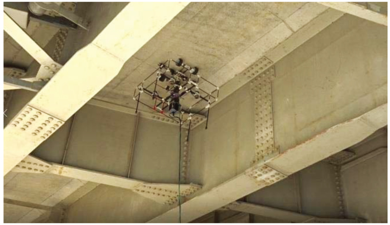 Utilization of Unmanned Aerial Vehicle, Artificial Intelligence, and Remote Measurement Technology for Bridge Inspections