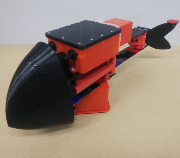 Development of a Fish-Like Robot with a Continuous and High Frequency Snap-Through Buckling Mechanism Using a Triangular Cam